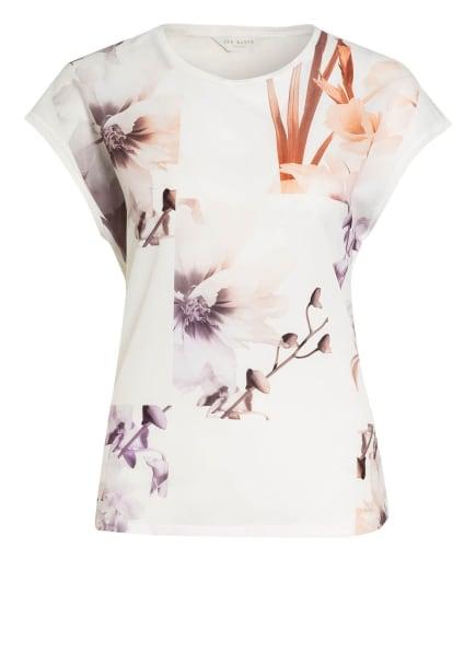 TED BAKER T-Shirt LYLIE im Materialmix, Farbe: WEISS/ BRAUN/ LILA (Bild 1)