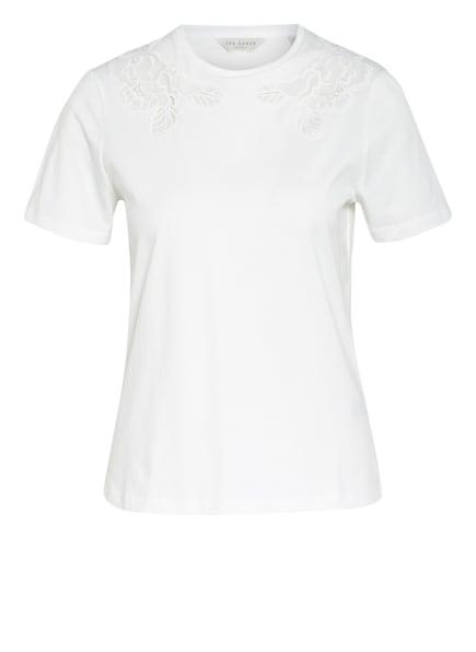 TED BAKER T-Shirt mit Spitzenbesatz, Farbe: WEISS (Bild 1)