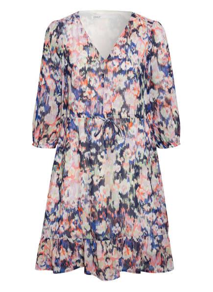 ONLY Kleid mit 3/4-Arm, Farbe: BLAU/ LACHS/ HELLGRÜN (Bild 1)
