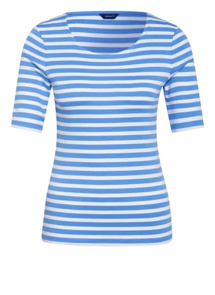 GANT T-Shirt, Farbe: HELLBLAU/ WEISS (Bild 1)