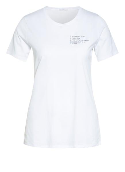 mey Lounge-Shirt Serie HOMESCHOOLING , Farbe: WEISS/ SCHWARZ (Bild 1)