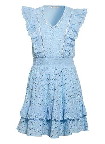 GUESS Kleid aus Lochspitze mit Volantbesatz, Farbe: HELLBLAU (Bild 1)