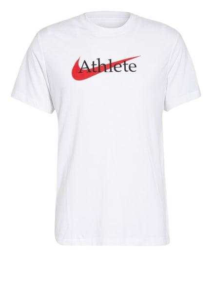 Nike T-Shirt DRI-FIT, Farbe: WEISS/ SCHWARZ/ ROT (Bild 1)