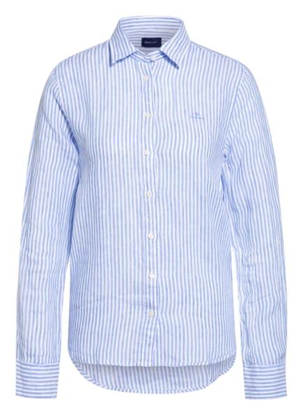 GANT Hemdbluse aus Leinen, Farbe: HELLBLAU/ WEISS (Bild 1)