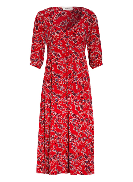 ba&sh Kleid JAZZ mit 3/4-Arm , Farbe: ROT/ DUNKELROT/ HELLBLAU (Bild 1)