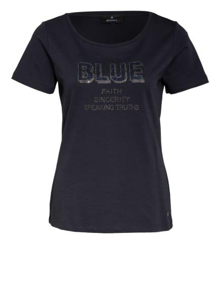 monari T-Shirt mit Schmucksteinbesatz, Farbe: DUNKELBLAU (Bild 1)