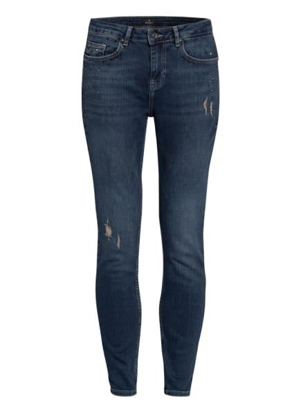 monari Skinny Jeans mit Schmucksteinbesatz, Farbe: 750 jeans (Bild 1)