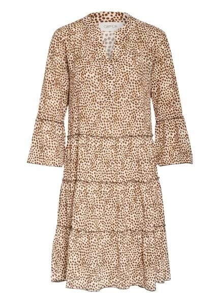 CARTOON Kleid mit 3/4-Arm, Farbe: CREME/ BRAUN/ DUNKELGELB (Bild 1)