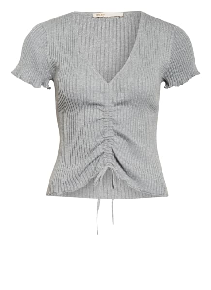 maje Strickshirt MILINO mit Glitzergarn, Farbe: GRAU/ HELLGRAU/ SILBER (Bild 1)