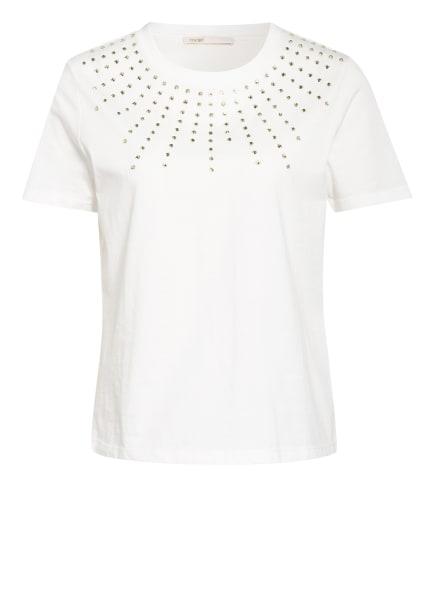 maje T-Shirt TIZIANO mit Schmucksteinbesatz, Farbe: WEISS (Bild 1)