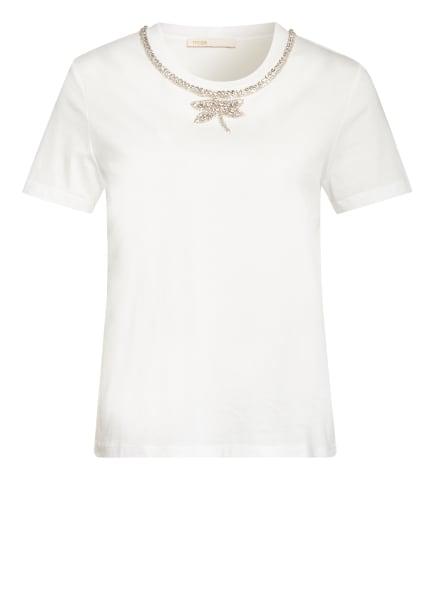 maje T-Shirt TOPAL mit Schmucksteinbesatz, Farbe: WEISS (Bild 1)