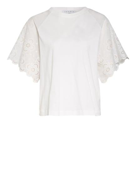 sandro T-Shirt mit Lochspitze, Farbe: WEISS (Bild 1)