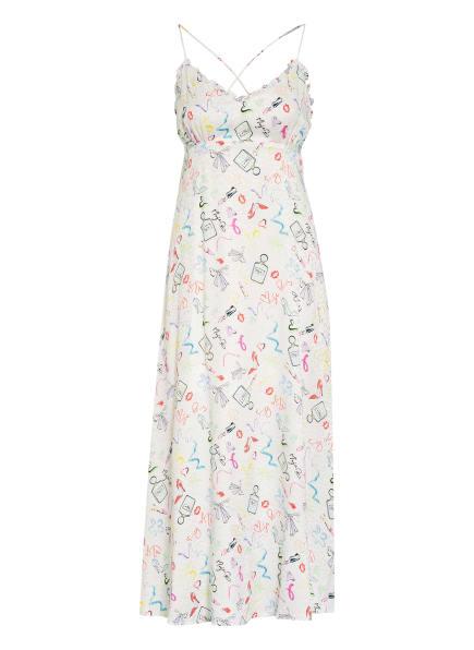 maje Kleid RETAKE mit Rüschenbesatz, Farbe: WEISS/ ROT/ GRÜN (Bild 1)