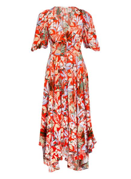 maje Kleid REHANA, Farbe: ORANGE/ WEISS/ GRÜN (Bild 1)