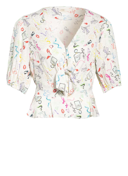 maje Jacquard-Bluse LICAKE , Farbe: WEISS/ MINT/ HELLBLAU (Bild 1)