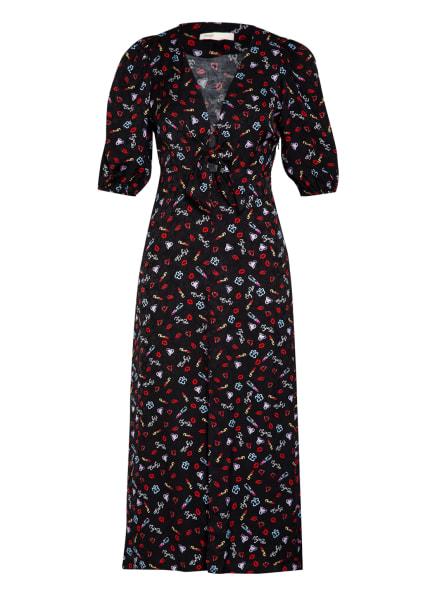 maje Kleid RINOBI mit 3/4-Arm, Farbe: SCHWARZ/ ROT/ HELLBLAU (Bild 1)