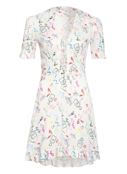 maje Jacquard-Kleid RAMAKE , Farbe: WEISS/ HELLBLAU/ MINT (Bild 1)