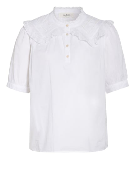 ba&sh Blusenshirt ISEUT mit Spitzenbesatz, Farbe: WEISS (Bild 1)