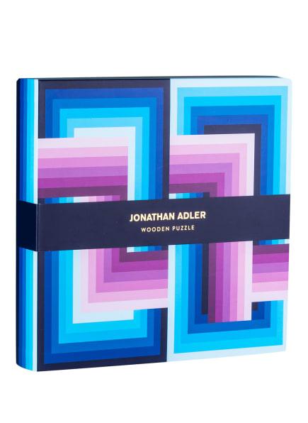 JONATHAN ADLER Puzzle aus Holz, Farbe: BLAU/ HELLBLAU/ PINK (Bild 1)
