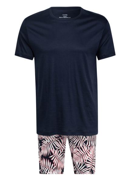CALIDA Shorty-Schlafanzug, Farbe: DUNKELBLAU/ ROT/ WEISS (Bild 1)