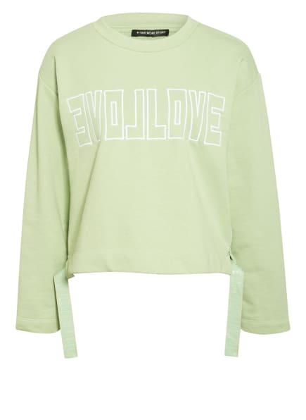 ONE MORE STORY Sweatshirt, Farbe: HELLGRÜN/ WEISS (Bild 1)