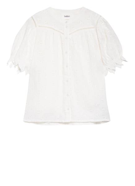 ba&sh Bluse BIRKIN mit Lochstickerei, Farbe: WEISS (Bild 1)