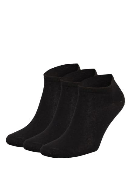 GET FIT 3er-Pack Sneakersocken FOOTI, Farbe: BLACK (Bild 1)