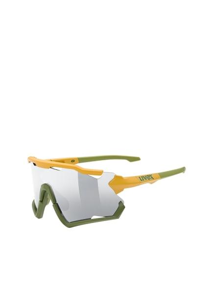 uvex Radbrille SPORTSTYLE 228, Farbe: 623 - OLIV/ GELB/ SILBER VERSPIEGELT (Bild 1)