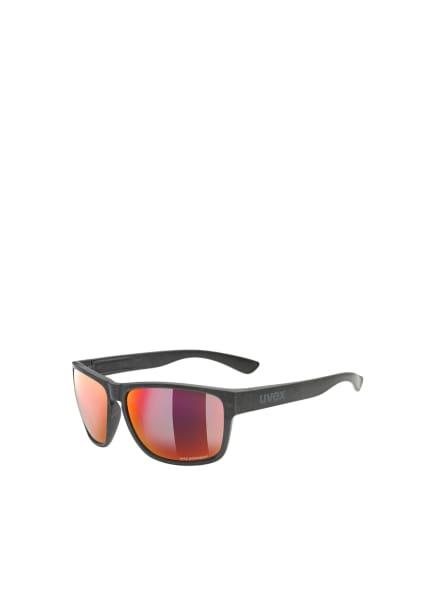uvex Sonnenbrille LGL OCEAN P, Farbe: 00138 - SCHWARZ/ ROT VERSPIEGELT (Bild 1)