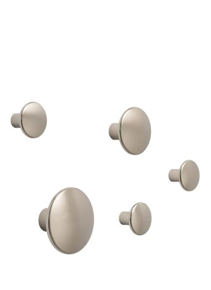 MUUTO 5-tlg. Wandhaken-Set DOTS METAL, Farbe: PLATIN (Bild 1)