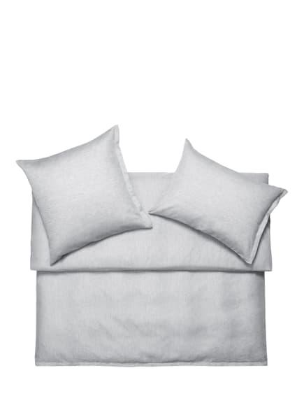SCHLOSSBERG Bettwäsche LEVIN aus Leinen, Farbe: GRAU/ WEISS (Bild 1)