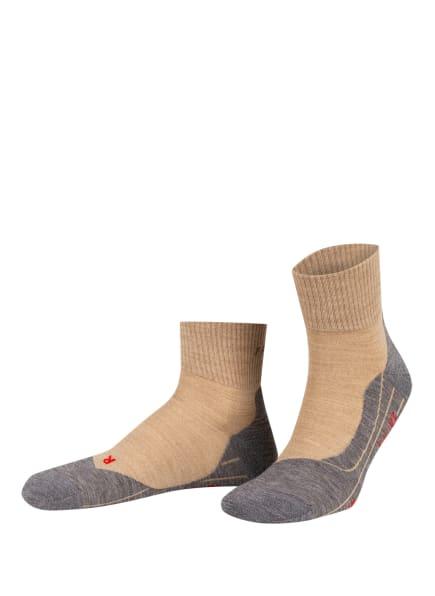FALKE Trekking-Socken TK5 ULTRALIGHT SHORT, Farbe: 4100 NATURE MEL (Bild 1)