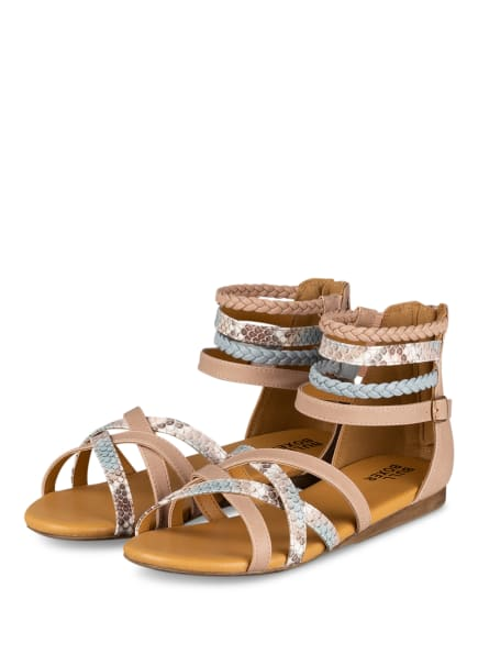 BULLBOXER Sandalen, Farbe: NUDE/ HELLBLAU (Bild 1)