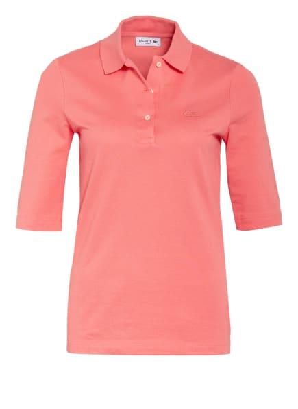 LACOSTE Piqué-Poloshirt mit 3/4-Arm, Farbe: HELLROT (Bild 1)