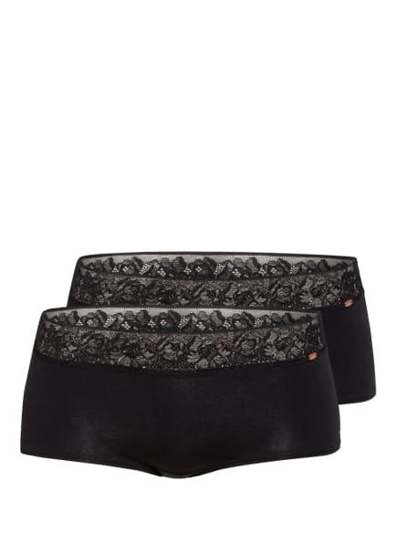 Skiny 2er-Pack Panties SMART COTTON, Farbe: SCHWARZ (Bild 1)