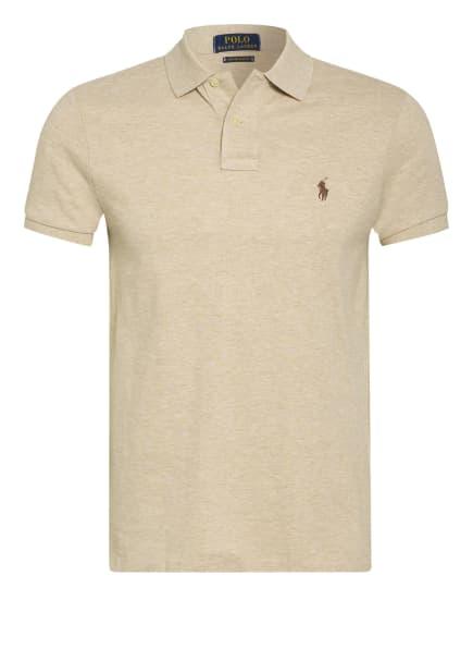 POLO RALPH LAUREN Piqué-Poloshirt Custom Slim Fit, Farbe: BEIGE (Bild 1)