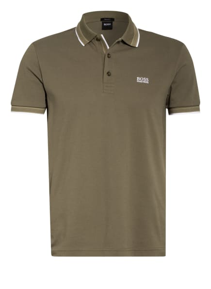 BOSS Piqué-Poloshirt PADDY Regular Fit, Farbe: OLIV (Bild 1)