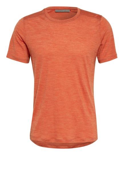 icebreaker T-Shirt SPHERE mit Merinowolle, Farbe: DUNKELORANGE (Bild 1)