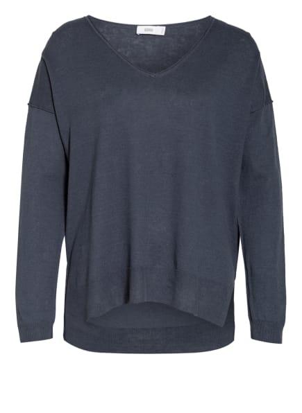 CLOSED Pullover mit Leinen, Farbe: PETROL (Bild 1)