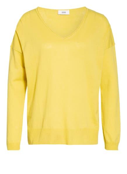 CLOSED Pullover mit Leinen, Farbe: GELB (Bild 1)