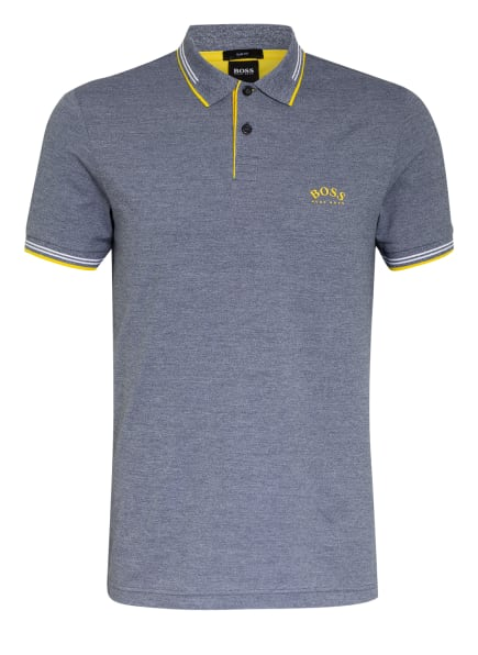 BOSS Piqué-Poloshirt PAUL Slim Fit , Farbe: DUNKELBLAU/ WEISS (Bild 1)