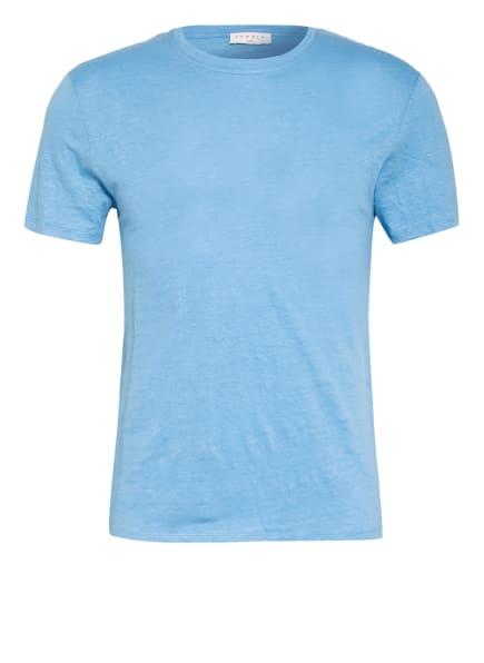sandro T-Shirt aus Leinen, Farbe: HELLBLAU (Bild 1)