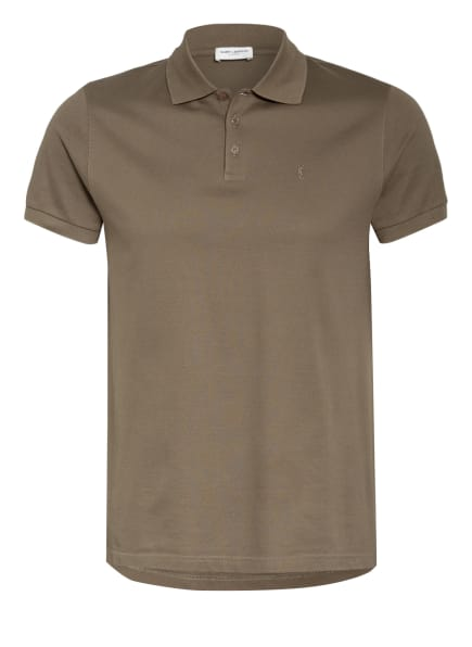 SAINT LAURENT Piqué-Poloshirt, Farbe: OLIV (Bild 1)