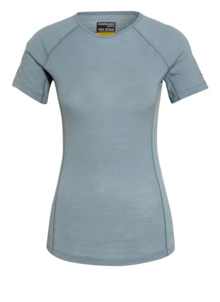 icebreaker Funktionswäsche-Shirt BODYFITZONE™ 150 ZONE aus Merinowolle, Farbe: BLAUGRAU (Bild 1)