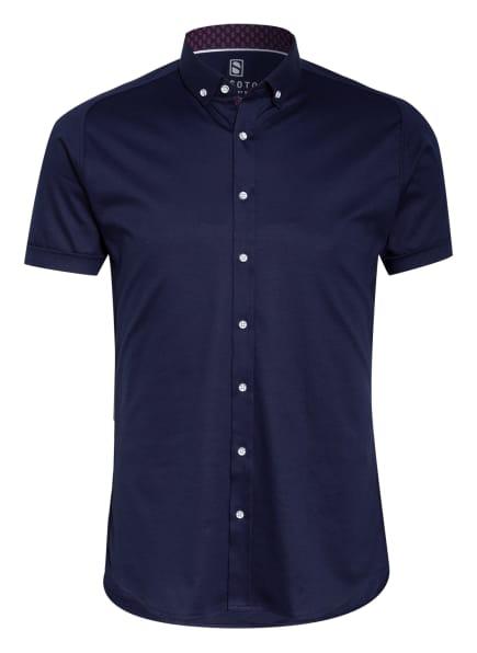 DESOTO Kurzarm-Hemd Slim Fit aus Jersey, Farbe: BLAU (Bild 1)