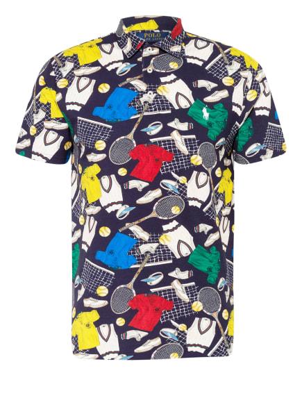 POLO RALPH LAUREN Piqué-Poloshirt, Farbe: WEISS/ DUNKELBLAU/ ROT (Bild 1)