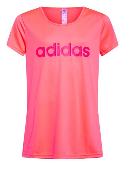 adidas T-Shirt mit Mesh-Einsatz, Farbe: PINK (Bild 1)