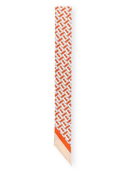 BURBERRY Seidenschal, Farbe: DUNKELORANGE/ WEISS/ SCHWARZ (Bild 1)