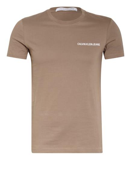 Calvin Klein Jeans T-Shirt, Farbe: HELLBRAUN (Bild 1)