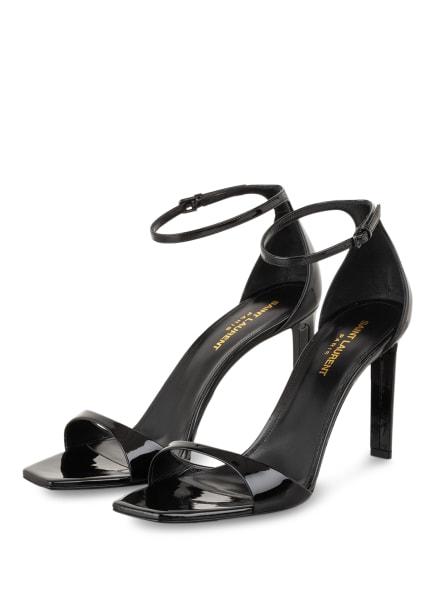 SAINT LAURENT Sandaletten BEA, Farbe: SCHWARZ (Bild 1)